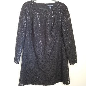 American Living Black Lace Cocktail Dress